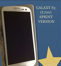OEM Samsung galaxy s3 SPH-L710 Full Screen/lcd Repair Assembly White WITH FRAME!