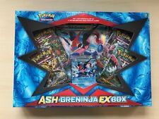 Pokemon TCG Ash Greninja EX Box Sealed OVP Englisch 4 Booster Oversized Card!