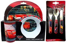 Disney Pixar Cars 3 - 6 Piece Tableware Set - Dinner Set & Cutlery *BRAND NEW*