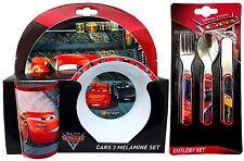 Disney Pixar Cars 3 - 6 Piezas Juego De Vajilla-Vajilla & Cubiertos * Nuevo *