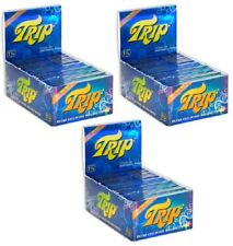 3X BOXES -  24 packs TRIP 2 CLEAR TRANSPARENT SEE THROUGH 1 1/4 ROLLING PAPERS
