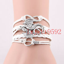 Infinity love Game of Thrones Bracelet Song of Ice and Fire Dragon Sun Charm#387