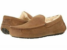 05312cd07 Men UGG Ascot Suede Slipper 1101110 Chestnut Winter Slide 7 8 9 10 11 12 13