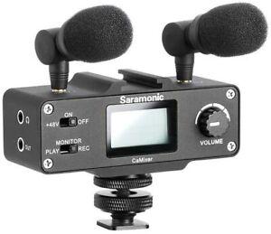 Saramonic CaMixer Mini Preamp Audio Mixer Kit with +48V Phantom Power