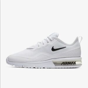 Nike WMNS Air Max Sequent 4.5 BQ8824-100 White Black Women's Running Shoes NEW