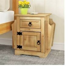 Corona 1 Door 1 Drawer Bedside Table