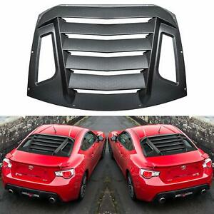 ABS Rear Window Louvers Sun Shade Cover for 2012-2020 Subaru BRZ Toyota GT86
