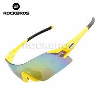 ROCKBROS Cycling Sunglasses Bike Bicycle Ultralight Sport Glasses Goggles Yellow