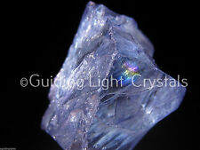 "ONE RARE NEW INDIGO VIOLET AURA PETALITE CRYSTAL! ""THE STONE OF INTENT"" RAINBOW"