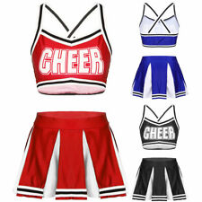 Women's Adults Cheerleader Costume Uniform Sexy Cheer Cosplay Fancy Dress Outfit