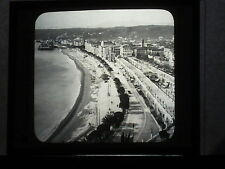VINTAGE COLLECTIBLE GLASS PICTURE NEGATIVE NICE on the RIVIERA SOUTH FRANCE