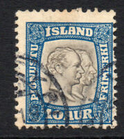 Iceland 10 Aur Official Stamp c1907-08 Fine Used (3371)