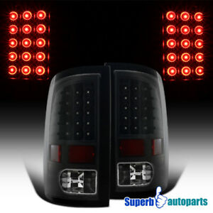 For 2009-2018 Dodge Ram 1500 10-18 2500 3500 Black LED Brake Lamps Tail Lights