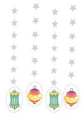 Ramadan Eid Lantern Hanging Silver Stars (4 pack) Islamic Holiday Decoration