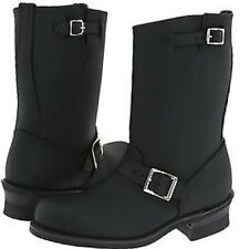NEW WOMEN FRYE ENGINEER 12R SHORT BLACK LEATHER BOOTS SIZE 8.5