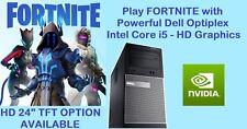 FAST GAMING DELL Optiplex MT Core i5 PC Desktop HDMI nVidia Graphics Windows 10