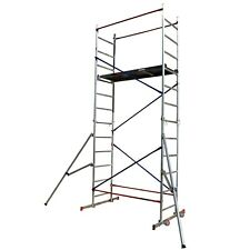More details for diy scaffold tower - aluminium 5m reach height with 2x outriggers safety, towers