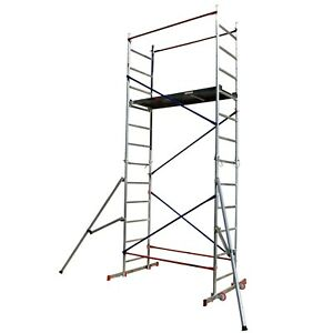 DIY Scaffold Tower - Aluminium 5m reach height with 2x Outriggers Safety, Towers