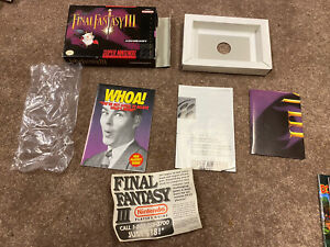 Authentic Original Super Nintendo SNES box only Final Fantasy III 3 No Game