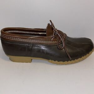"""LL Bean """"bean"""" Rubber Duck Boots Men's Size 13W Hunting Low"""
