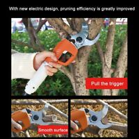 Electric Garden Pruning Shears Pruner Ratchet Scissors Branch Cutter Trimmer Kit
