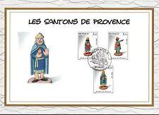 MONACO CEF PREMIER JOUR 1995 TIMBRE N° 2011 . 2012 . 2013  SANTONS DE PROVENCE