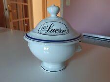 Porcelaine d'Auteuil Bistrot Jacques Lobjoy ligne  marine: sucrier