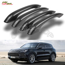 For Porsche Cayenne 18-20 Dry Real Carbon Fiber Door Side Handle Cover NO Sensor