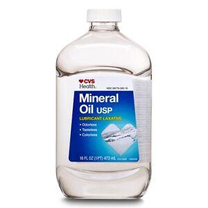 CVS Mineral Oil USP Lubricant Laxative - 16 oz- D-Alpha Tocopherol (Vitamin E)