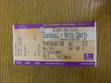 30/11/2002 Ticket: Blackpool v Notts County [Media Centre] . Bobfrankandelvis th