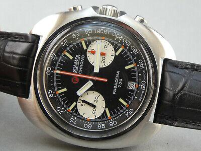"""Vintage Uhr Chronograph ROAMER Pasadena 734 near """" NOS""""  Diver Swiss Made 43mm"""