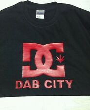 Dab City T shirt ,DC  420 marijuana, wax, pot T-shirt RX legalize BHO 710  Large