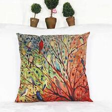Unique Tree Flower Floral Cotton Sofa Throw Pillowcase Cushion Case Cover R1