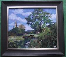Original pintura impresionista por Melanie Reynoso Parker: la Iglesia Pasto
