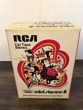 NEW Vintage RCA Car 8 track tape stereo mini 8 solid state