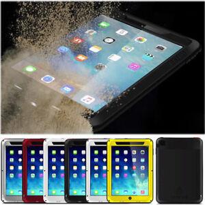 LOVE MEI Shockproof Waterproof Aluminum Metal Glass Case Cover For Apple iPad