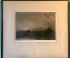 Percival Gaskell Mezzotint Etching