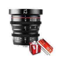 Meike12mmT2.2 Cine Lens for M4/3 mount Olympus Panasonic Lumix BMPCC Zcam E2 cam