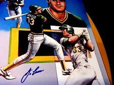 JOSE CANSECO Signed 16x20 Athletics Baseball Print/Photo -JSA Auth. Letter