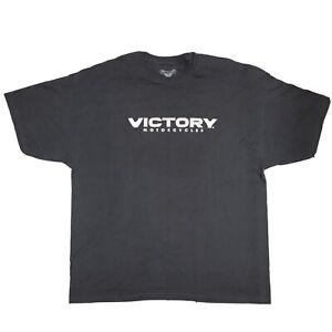 New Victory Motorcycle Tee Shirt XXL & XXXL 100% Preshrunk Cotton Gray