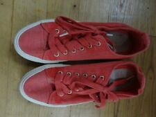 CANVAS SHOES PUMPS CASUAL WOMENS NEXT size 5 or 38 red