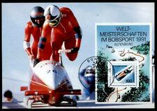 Bobsport. WM-1991, Altenberg. Maximumkarte. Bonn. BRD 1991