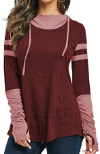 New listing iChunhua Spring Hoodies Women Pullover Blouses and Tops for Women Plus Size XXL