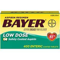 BAYER Low Dose Aspirin Regimen 81 mg 400 ct *BEST DEALS IN USA*