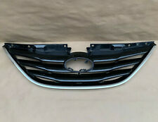 fits 2011-2013 SONATA Upper and Lower Grille w// Chrome Hood Molding Trim SET 3PC