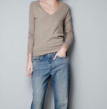 Zara Camel Brown/ Tan Women Cashmere blend  Sweater RRP £35.99