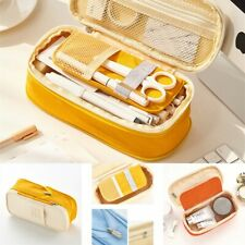 Pencil Case Supplies Zipper Pen Stationery for Office Student Canvas Stationery