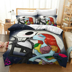 The Nightmare Before Christmas 3PCS Bedding Set Duvet Cover Pillowcases US Size