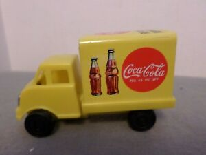 Tin Coke truck made in Japan friction wheels