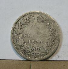 Monnaie france argent silver 2 francs ceres 1870 k sans légende étoile